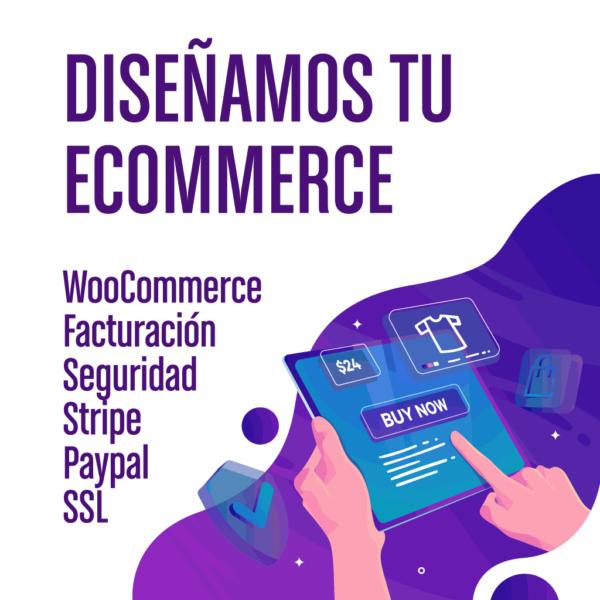 Hacemos diseños web de tiendas electrónicas seguras en WordPress con WooCommerce