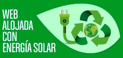 Web alojada con energía solar
